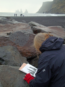 Scribblah drawing in Iceland