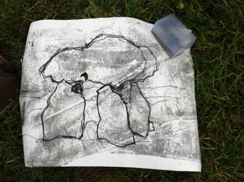 Carreg Samson drawing