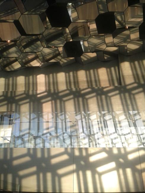 Shadows and reflections at Harpa opera house, Reykjavik, Iceland
