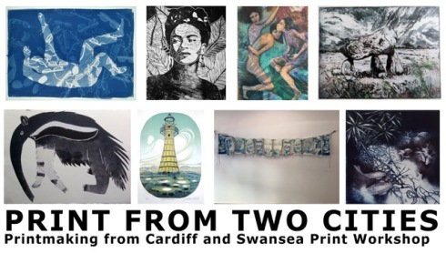 From January 15th to February 8th, with some of my installations and lino prints in Penarth