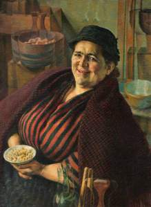 Walters, Evan; The Cockle Woman; Carmarthenshire Museums Service Collection; http://www.artuk.org/artworks/the-cockle-woman-177587