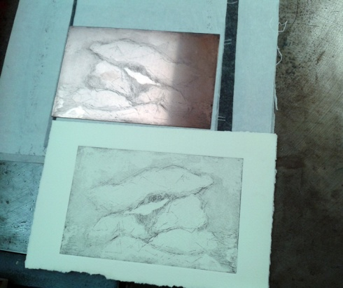 The first proof off the new etching plate