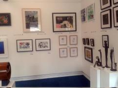 My work, 'Scrutiny' in top right corner