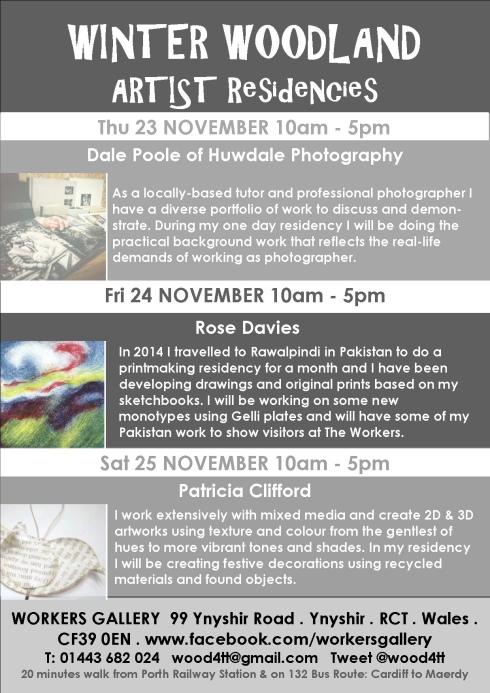 Winter Woodland artist residencies Nov 2017 b
