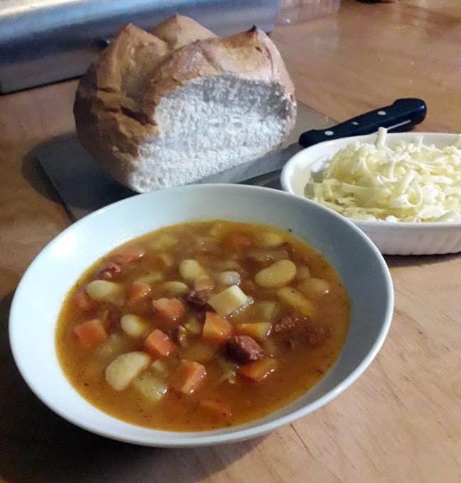 soup chorizo and butter bean