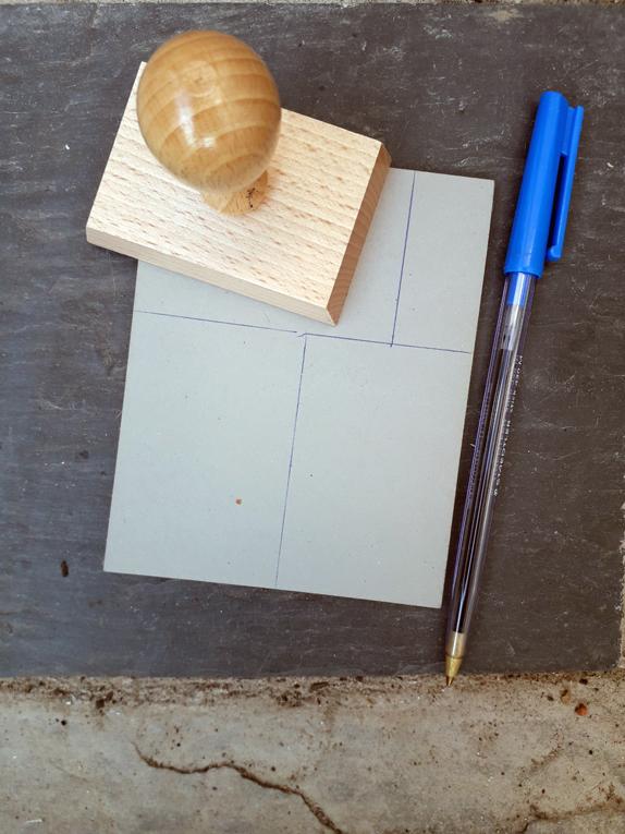 marking the block