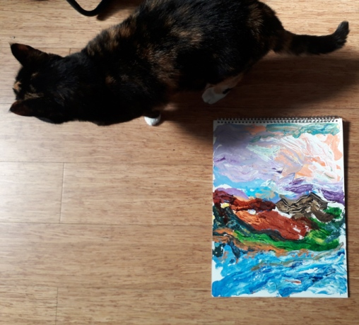 cat and landscape
