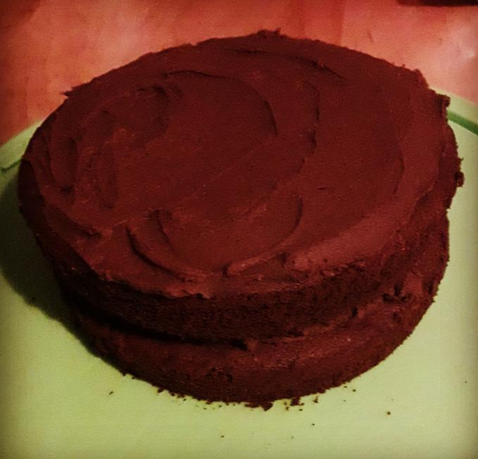 chocolate plum buttercream